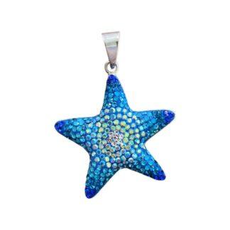 Crystal Starfish Pendant