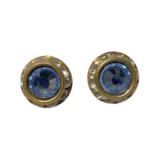 Crystal Earring Studs - Clear/Blue