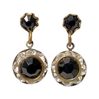 Crystal Earrings - Clear/Black