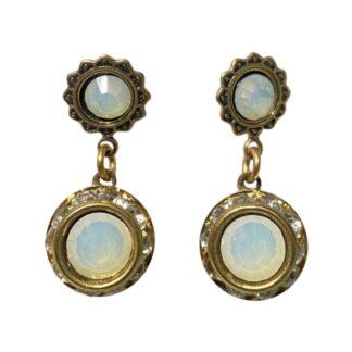 Crystal Earrings - Clear/White