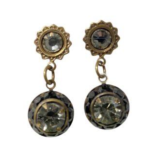 Crystal Earrings - Black/Clear