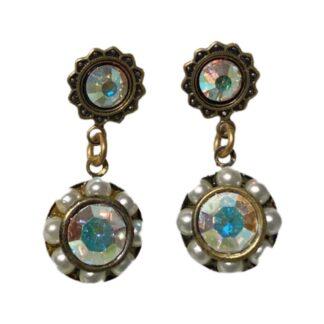 Crystal Earrings - Pearls/Rainbow