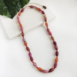 Kantha Fiesta Necklace