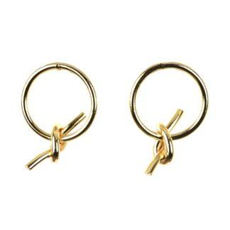 Sissy Yates Knot Hoop Earrings
