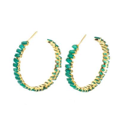 Sissy Yates Thea Earring - Green Onyx