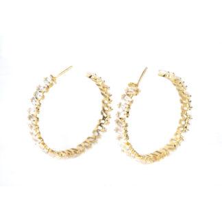 Sissy Yates Thea Earring - Clear Quartz