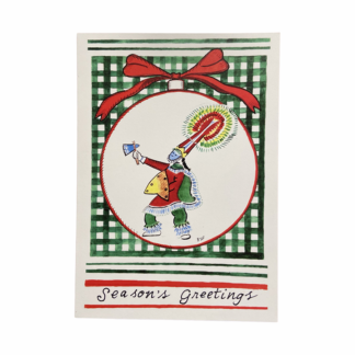 Christmas Gombey Ornament Notecard