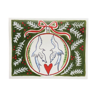 Longtail Ornament Christmas Notecard