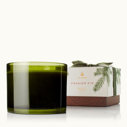 Thymes Frasier Fir Green 3 Wick Candle