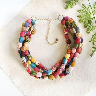 Aarini Kantha Collar Necklace